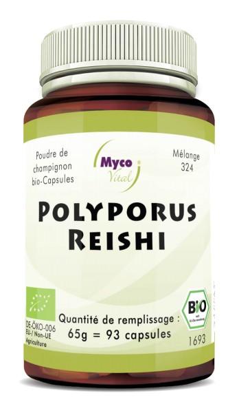 Polyporus-Reishi Capsule di funghi organici in polvere (miscela 324)