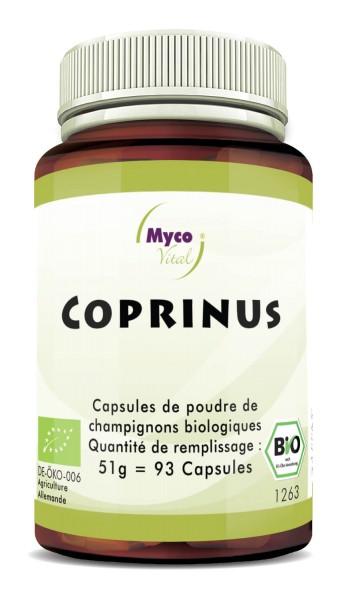 Coprinus Organic vital mushroom powder capsules