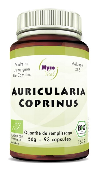 Auricularia-Coprinus Capsule di funghi organici in polvere (miscela 313)