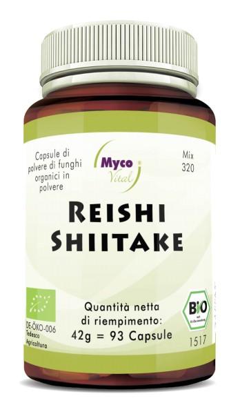 Reishi-Shiitake Capsule di polvere di funghi organici (miscela 320)
