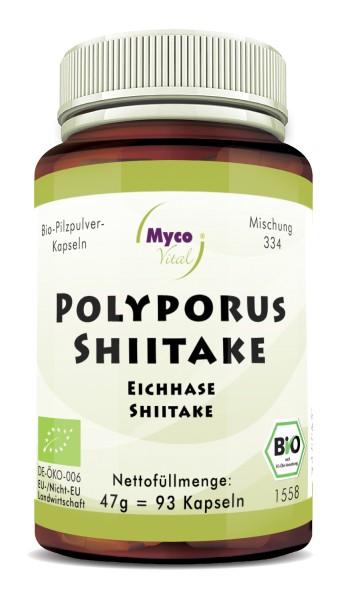 POLYPORUS-SHIITAKE Bio-Pilzpulver-Kapseln (Mischung 334)