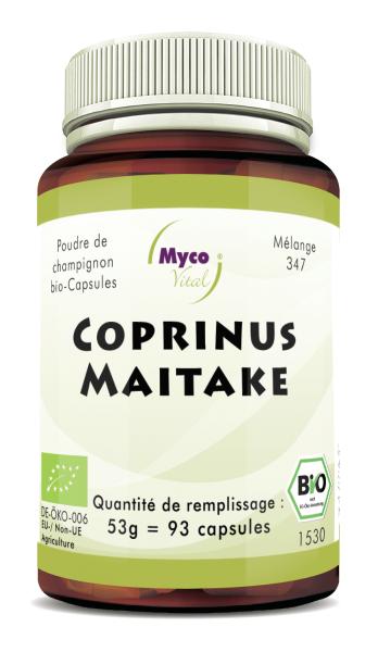 Coprinus-Maitake Capsules de poudre de champignons biologiques (mélange 347)