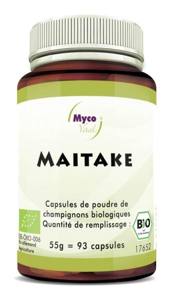 MAITAKE Organic Vital Mushroom Powder Capsule di Fungo Vitale