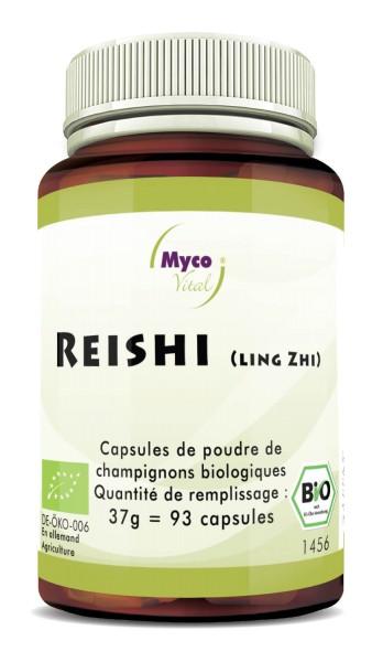 Reishi Capsules Poudre de champignons vitaux biologiques
