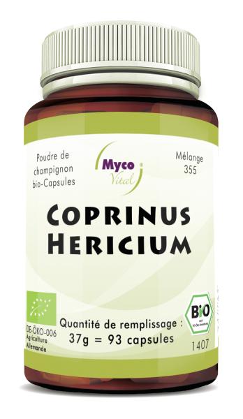 Coprinus-Hericium Capsules de poudre de champignons biologiques (mélange 355)