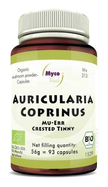 Auricularia-Coprinus Capsules de poudre de champignons biologiques (mélange 313)