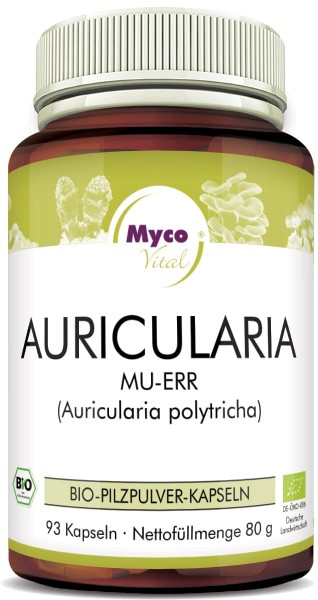 Auricularia Organic vital mushroom powder capsules