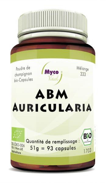 ABM-Auricularia Capsule di polvere di funghi organici (miscela 333)