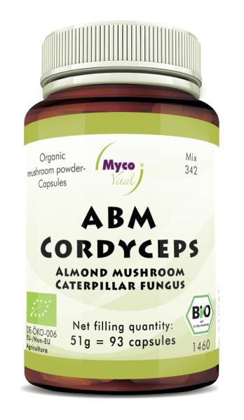ABM-Cordyceps Organic mushroom powder capsules (blend 342)