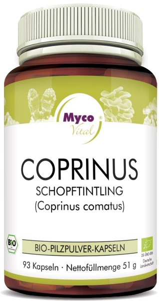 Coprinus Capsules de poudre de champignons bio vitaux