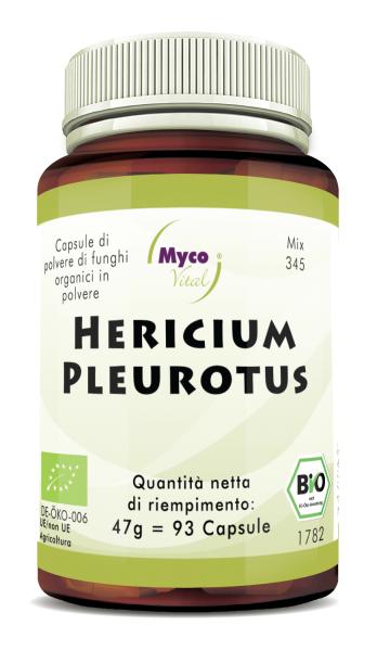 Hericium-Pleurotus Capsule di polvere di funghi organici (miscela 345)