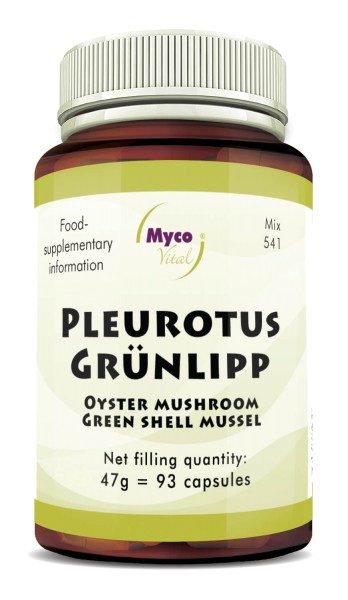 PLEUROTUS-GREEN-LIPPED MUSSEL powder capsules (blend no. 541)