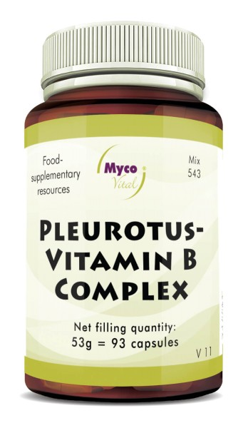 PLEUROTUS-VITAMIN B COMPLEX powder capsules (blend no. 543)