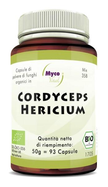 CORDYCEPS-HERICIUM Capsule organiche di funghi in polvere (miscela 358)