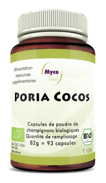 BIO Poria cocos capsules de poudre de champignon