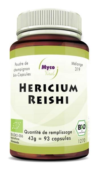 BIO HERICIUM-REISHI capsules de poudre de champignon (mélange 319)