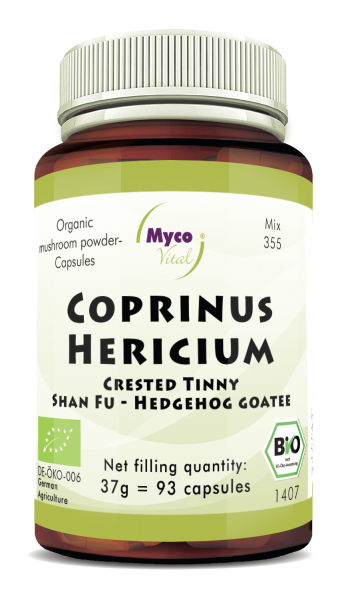 COPRINUS-HERICIUM organic mushroom powder capsules (Blend no. 355)