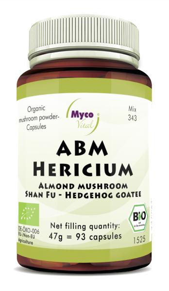 ABM-Hericium Organic mushroom powder capsules (Mixture 343)