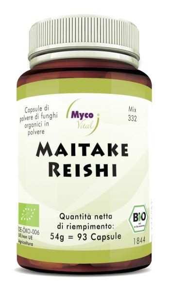 MAITAKE-REISHI Organic Mushroom Powder Capsule (Miscela 332)