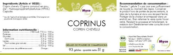 COPRINUS Capsule organiche in polvere di funghi vitali