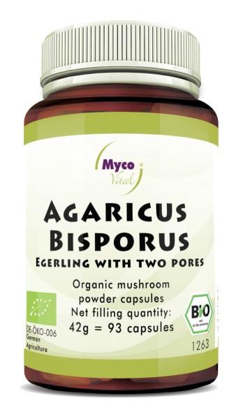 AGARICUS BISPORUS organic mushroom powder capsules