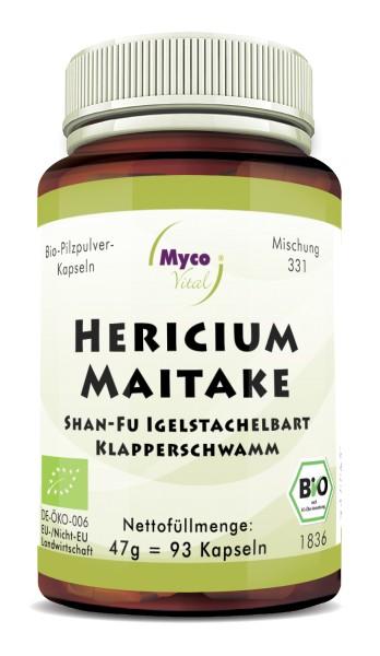HERICIUM-MAITAKE Bio-Pilzpulver-Kapseln (Mischung 331)
