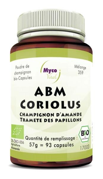 ABM-Coriolus Capsules de poudre de champignons biologiques (mélange 359)
