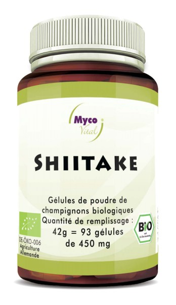 Shiitake Organic Vital Mushroom Powder Capsule di funghi vitali in polvere
