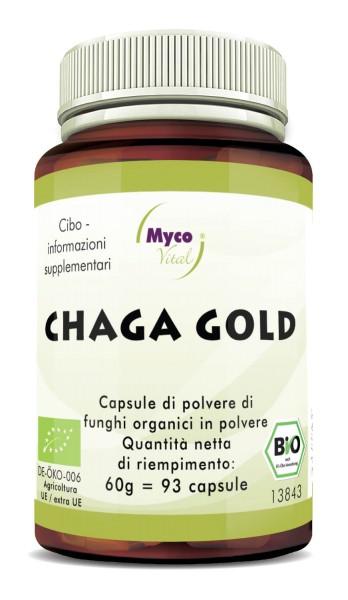 Chaga gold Capsule Organic Mushroom Vital Mushroom Powder