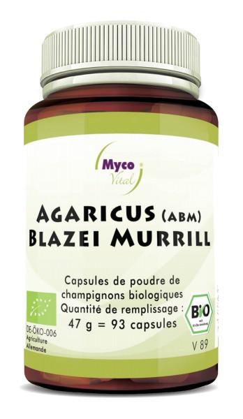 AGARICUS BLAZEI MURRILL (ABM) Organic Vital Mushroom Powder Capsule di funghi vitali in polvere