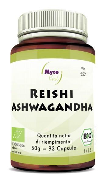 REISHI-ASHWAGANDHA capsule in polvere organica (miscela 0552)
