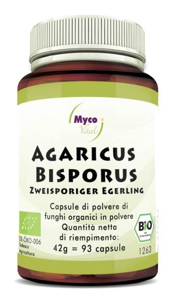 Agaricus Bisporus Capsule organiche di funghi vitali in polvere