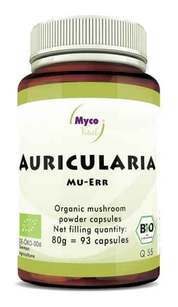 Auricularia Capsules de poudre de champignons bio vitaux