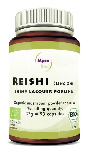 Reishi capsules organic vital mushroom powder