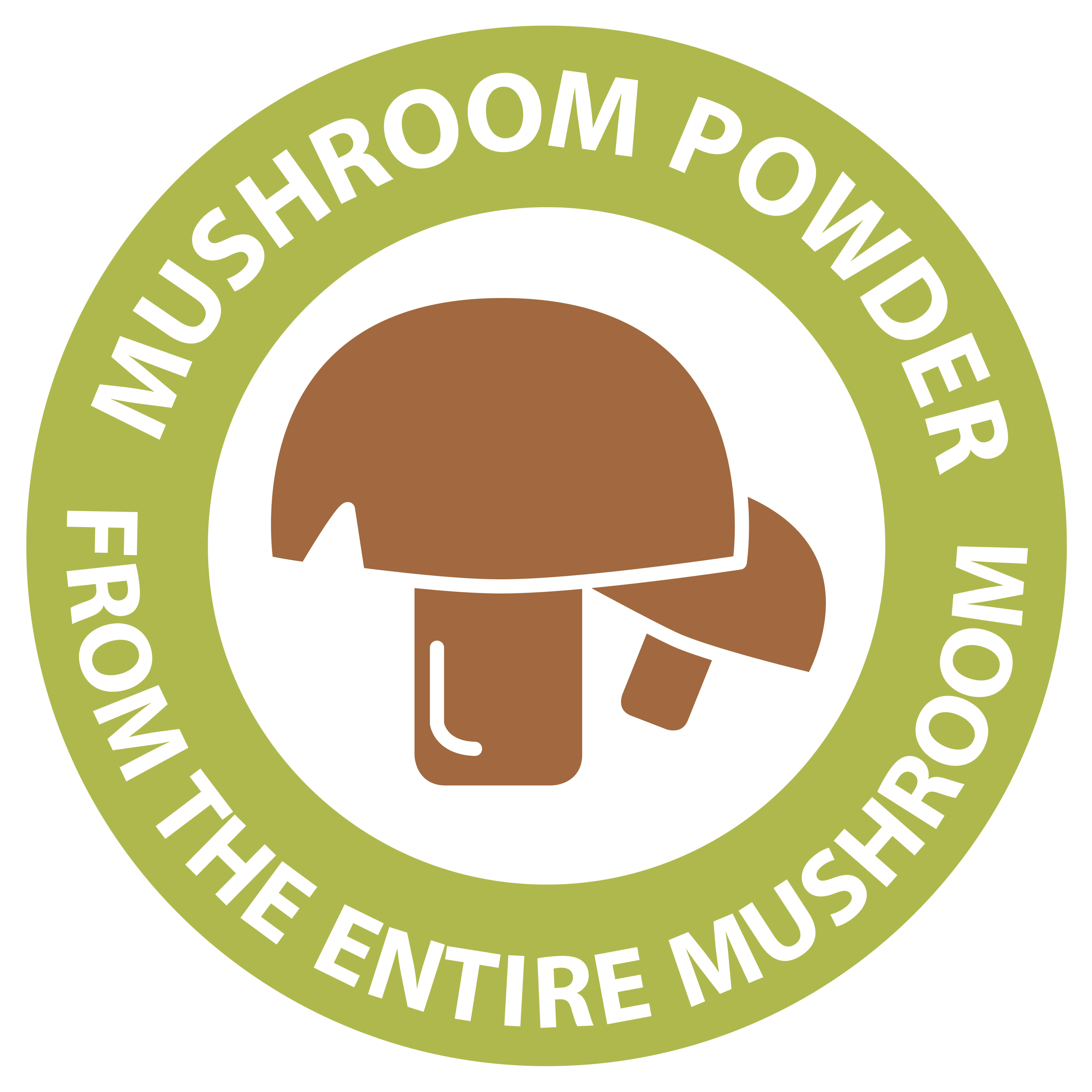 Mushroom powder of the whole mushroom