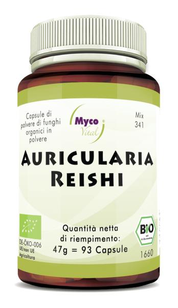 Auricularia-Reishi Capsule di funghi organici in polvere (miscela 341)