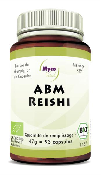 ABM-Reishi Capsules de poudre de champignons biologiques (mélange 339)
