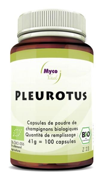 PLEUROTUS Capsule organiche in polvere di funghi vitali